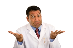 Avoid Medical Errors - Doctor Shrugging